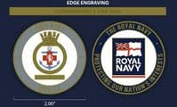 HMS Kent Challenge Coin (with FREE name engraving)